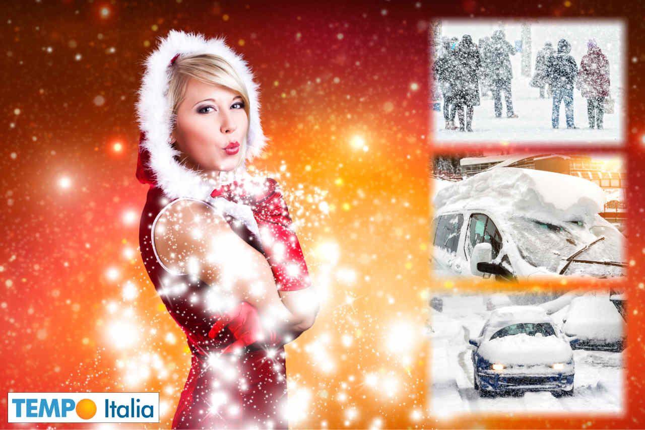 Bianco Natale in molte aree d'Europa.