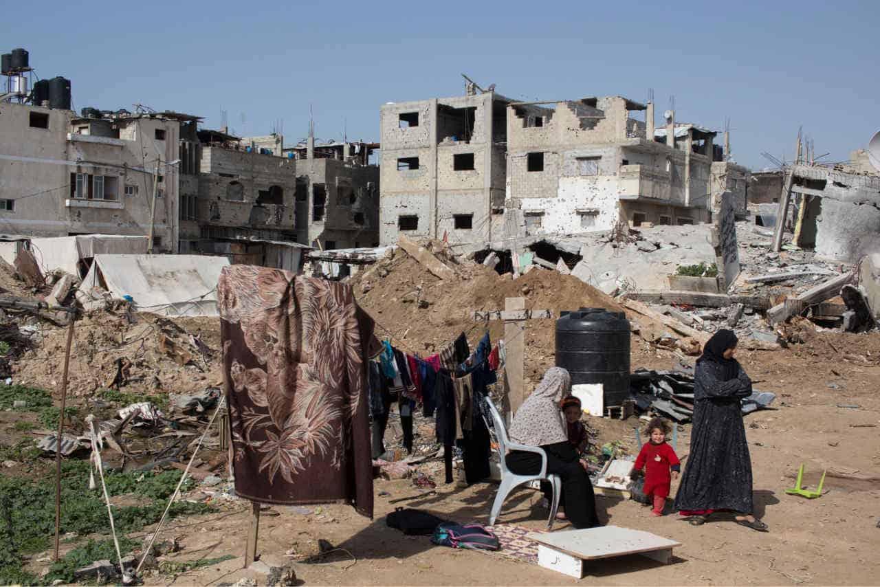Shujayea, Gaza. Effetto dei bombardamenti. Foto di repertorio.