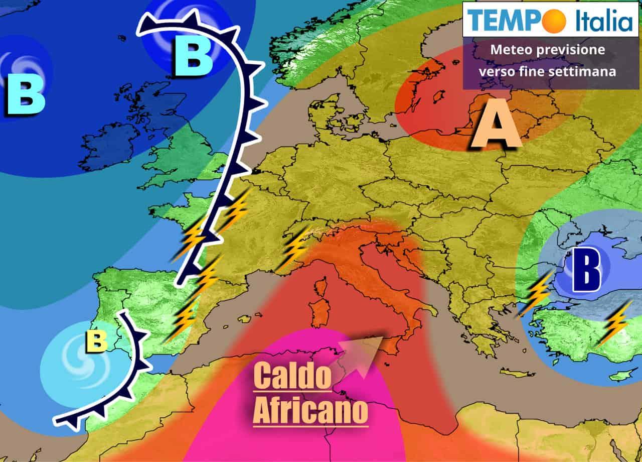 Italia fra caldo e minaccia di temporali