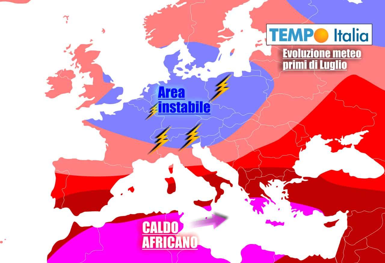 In settimana aria più fresca spodesterà parzialmente il grande caldo
