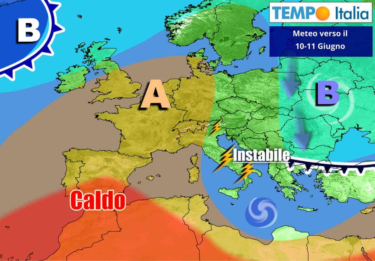 Italia fra anticiclone e correnti instabili