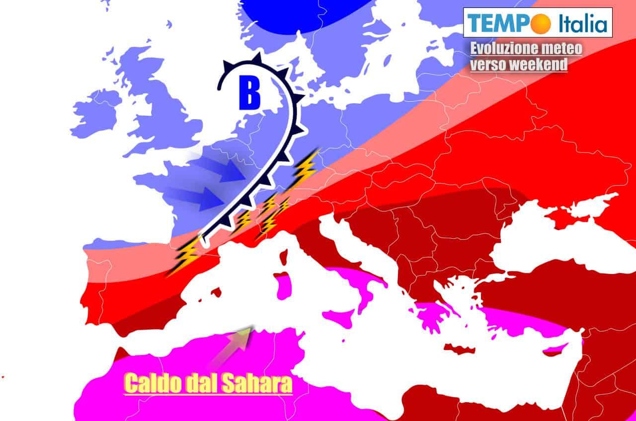 Scenario da meteo estremo ancora nel weekend