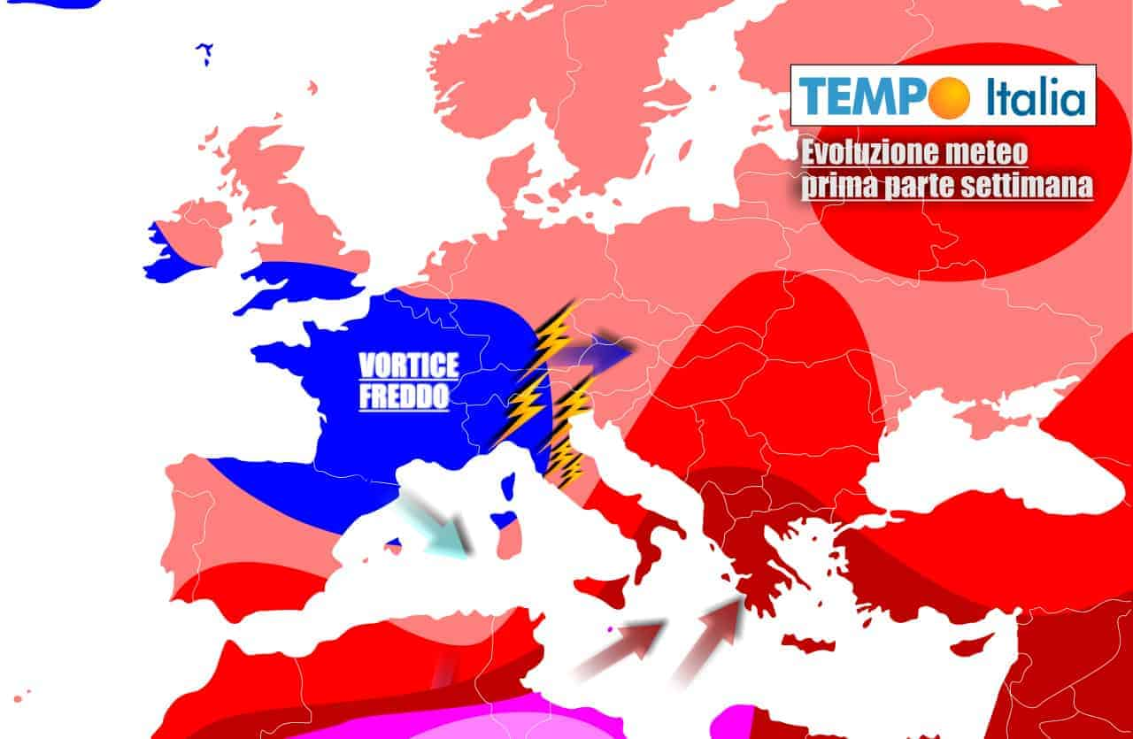 Cambiamento meteo vistoso sull'Italia nel corso della settimana