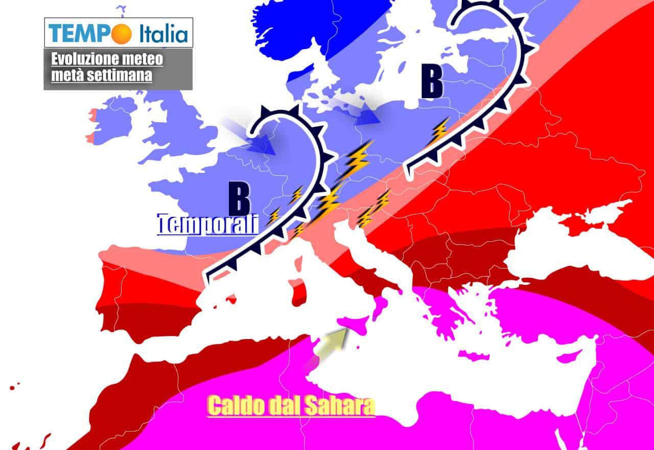 Nord Italia ancora obiettivo di ulteriori impulsi instabili in settimana