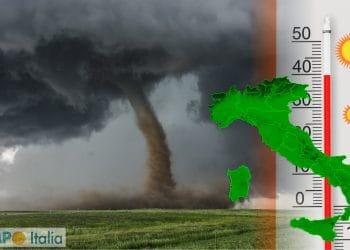 meteo estremo tra tornado e caldo